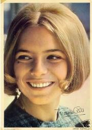Una jovencísima France Gall, en 1964