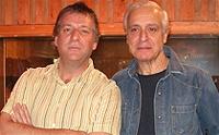 Dean Parrish (dcha) con Pete Mitchell, de la BBC.