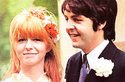 Jane Asher y Paul McCartney