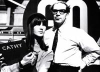 Cathy McGowan y Arnold Schwartzman en 1964