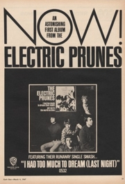 Promo del primer álbum de The Electric Prunes, en 1967